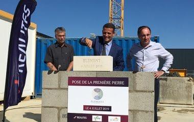 REALITES pose la première pierre de son opération immobilière ÉLÉMENTS à Chambray-lès-Tours