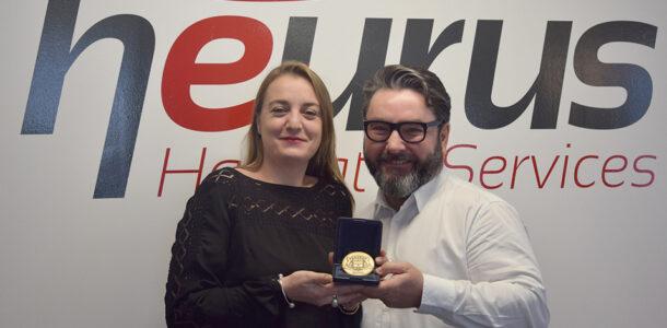 Photo de la médaille de bronze à Heurus